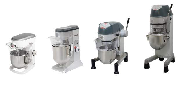 models up to 20lt planetary mixers